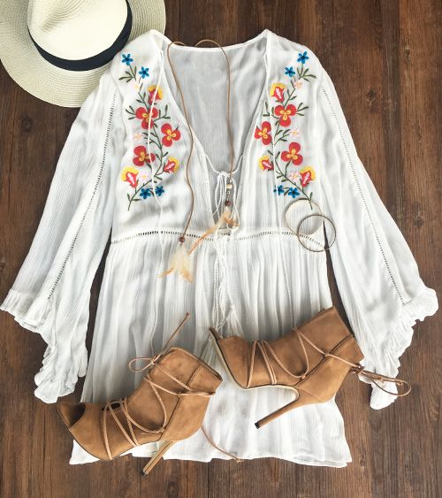 Go out with $39.99 Only&free shipping&easy return! This embroidered plunging dress is so flattering on you! Make it yours at Cupshe.com