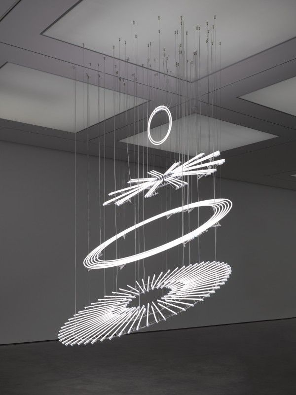 Cerith Wyn Evans, The Illuminating Gas… (after Oculist Witnesses), 2015, White…