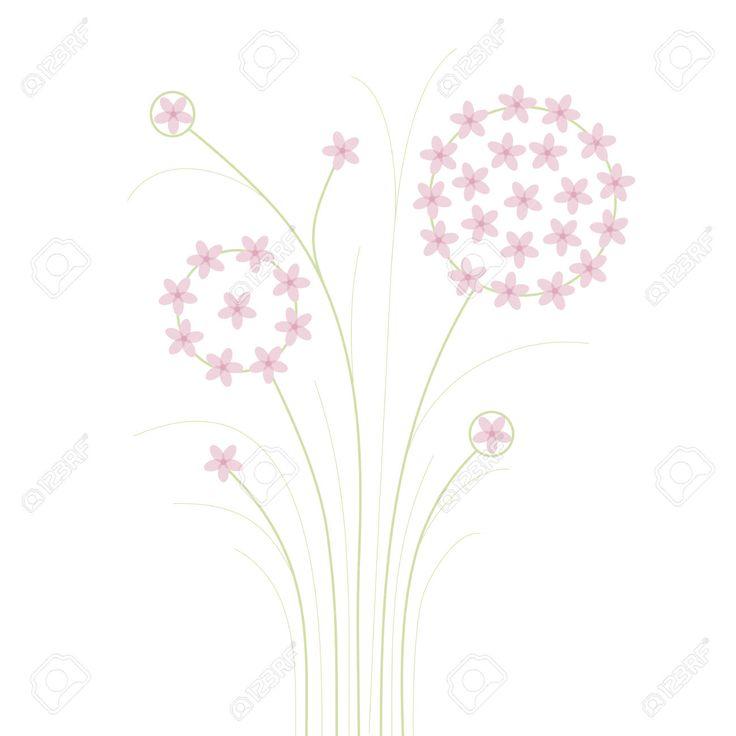 Pembe çiçekler Soyut Royalty Free Klipartlar, Vektör Çizimler Ve Stok Çizim. Image 36512033.