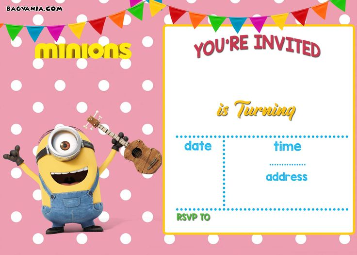 The 25+ best Minion birthday invitations ideas on Pinterest - birthday invitation cards templates