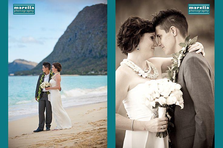 oahu civil union, gay marriage, equal, hawaii civil union, marella photography, waimanalo, hale pohaku, beach ceremony, beach wedding
