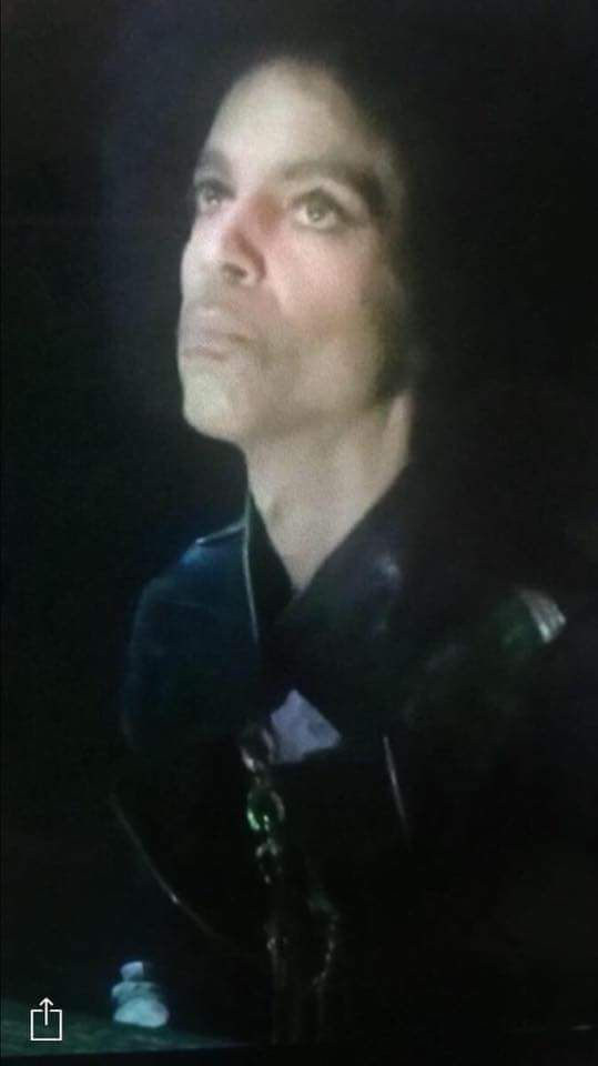 Very recent picture taken of Prince at the April 14, 2016 concert in Atlanta, Ga.