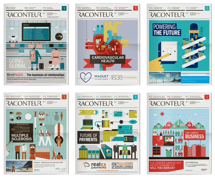 Raconteur / The Times / The Sunday Times Newspaper Supplement Covers