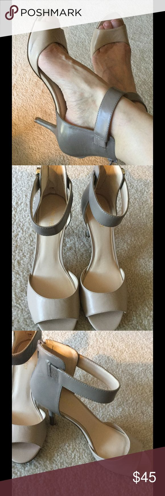 """Two tones beige/taupe BNWOB Size 7.5, heel 3"""", a little tight in toe box, probably would fit 7 better Nine West Shoes Heels"""
