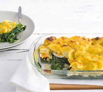 Spinazie aardappelschotel met eieren - Recept - Jumbo Supermarkten