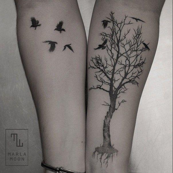 Marla Moon cria tatuagens geométricas e elegantes com elementos naturais - Stylo Urbano