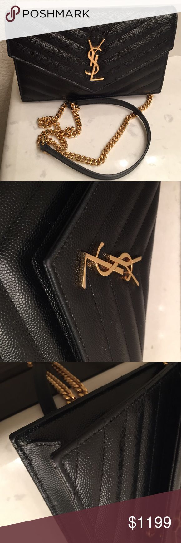 YSL wallet on a chain cross body Additional pictures. Please see original listings for details. no trades. No exchanges. No refunds. No pay pal.  Yves Saint Laurent Bags Crossbody Bags