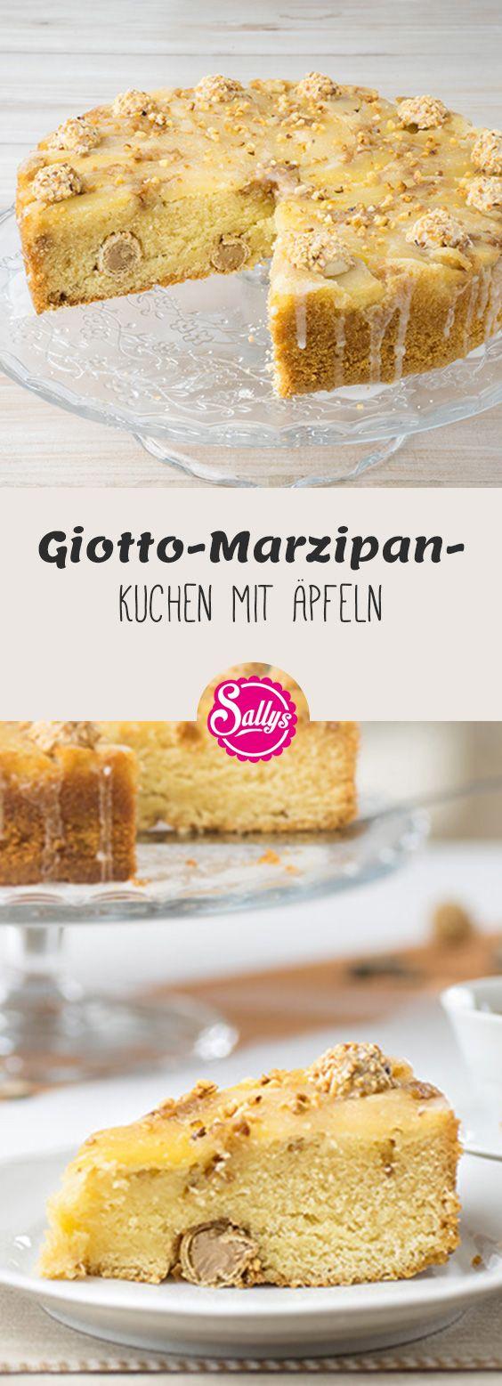 Giotto und Marzipan vereint in einem leckeren Giotto-Marzipankuchen mit frischen Äpfeln!