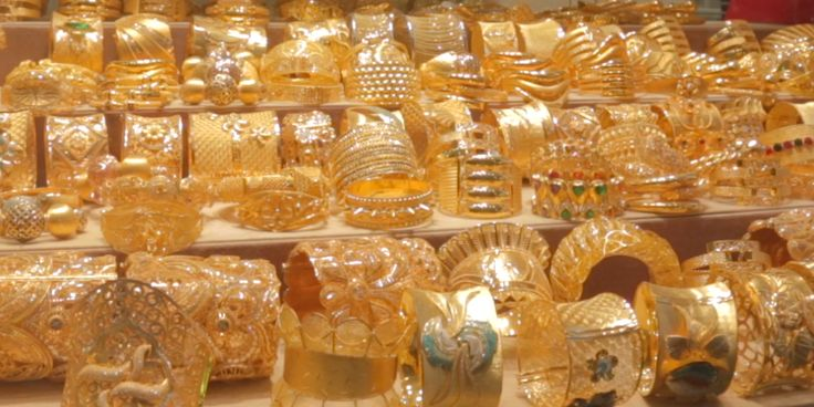 The Gold Souks are located in Old Dubai.