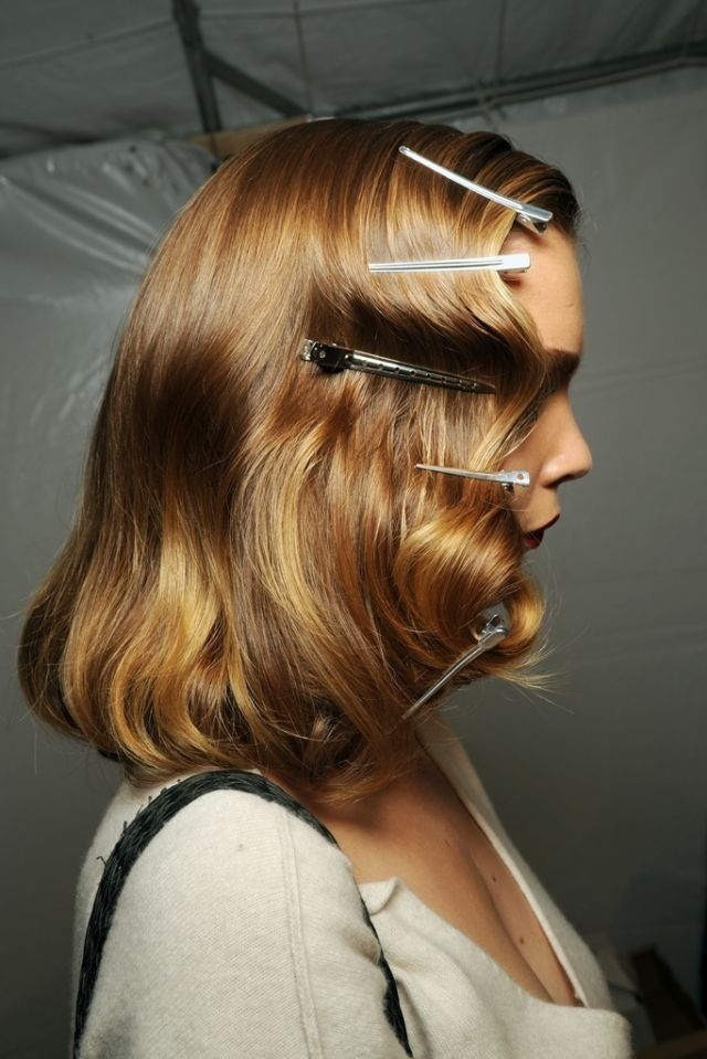 Finger wave and pin curls.