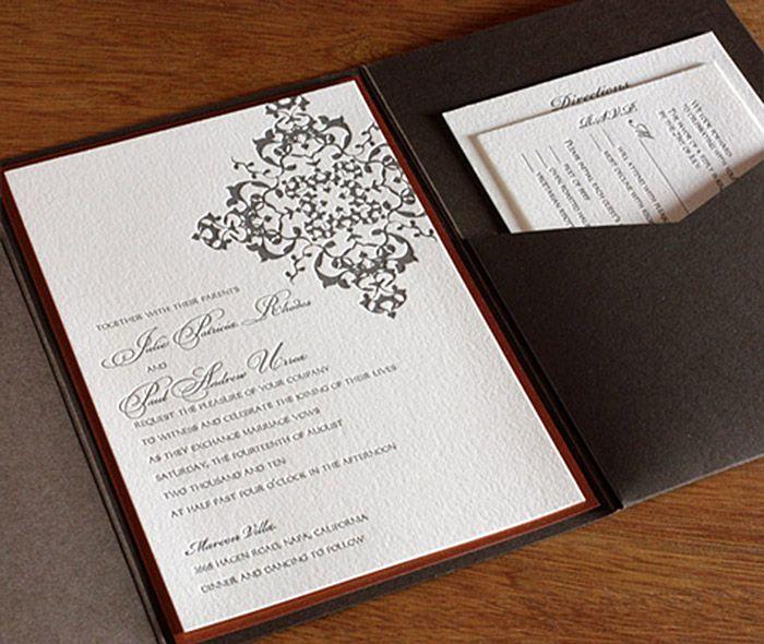 Pocket Folder Wedding Invitation Suite