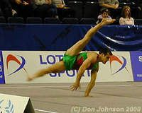 Power from Bulgaria: Jordan Jovtchev . This should involve the eight best gymnasts in these series...