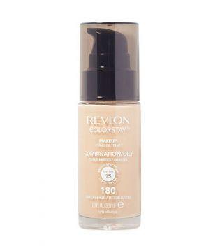 Revlon - Base de Maquillaje fluida ColorStay para piel Mixta/Grasa SPF15 - 180: Sand Beige