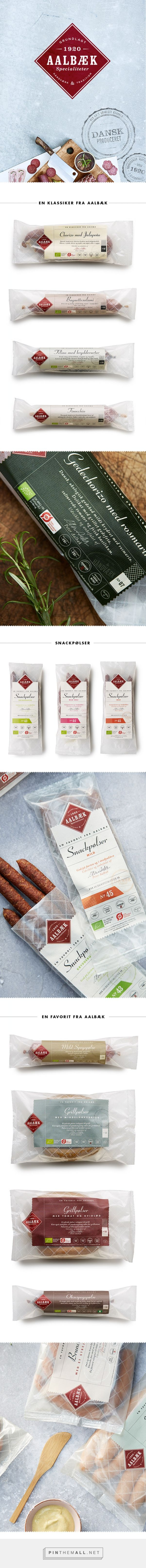 Aalbæk Specialiteter dry sausages designed byBessermachen Designstudio. #SFields99 #packaging #design