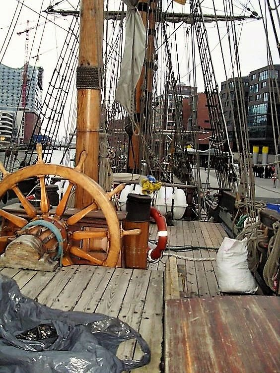 The deck of a Tall Ship