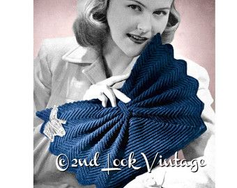 Vintage Crochet Pattern années 1940 enveloppe par 2ndlookvintage