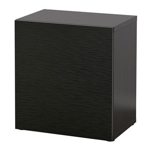 IKEA - BESTÅ, Kaappi, mustanruskea/Laxviken musta,