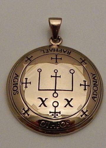 Archangel RAPHAEL Talisman Gold tone Bronze Sigil of Raphael Angelic P – Lasa Fine Jewelry and Luxury Gifts