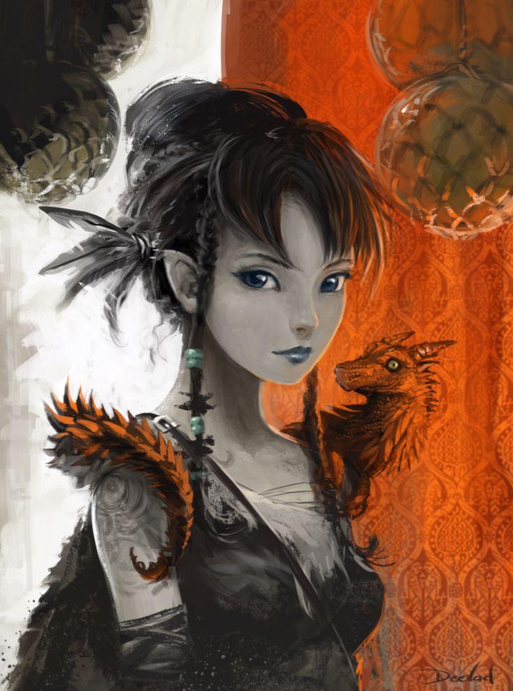 Litchee the dark elf by *Deevad on deviantART
