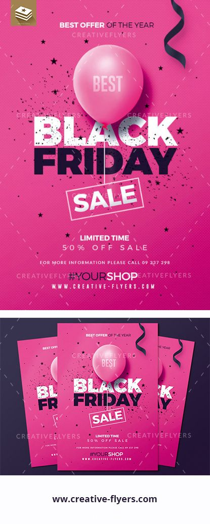 black friday sale flyer template creative photoshop pinterest