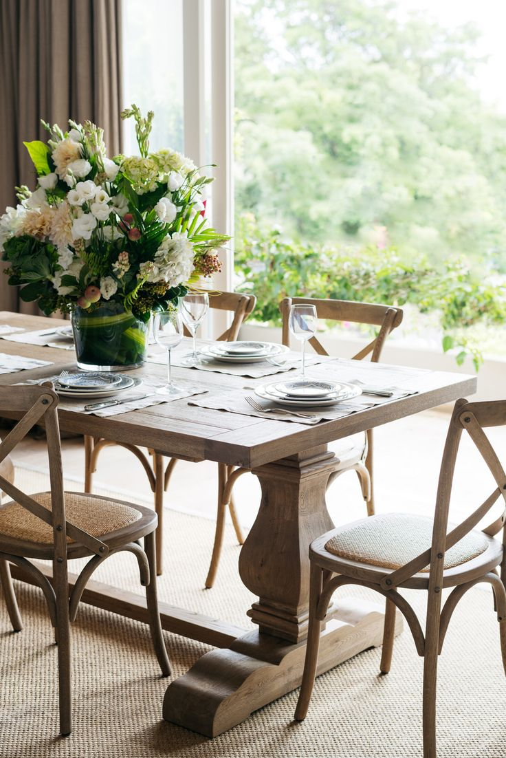 solid oak dining table beachy kitchen table Find this Pin and more on beachy interiors A classic Hamptons Dining Table