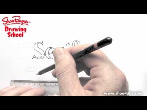 YouTube clip about how to draw a serif font.  He has numerous drawing videos on his YouTube channel.  He is also entertaining to listen to and watch.  A non-boring drawing video?!?!