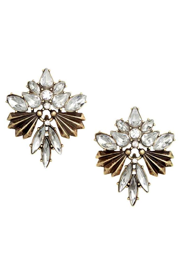Sparkly stone earrings | H&M