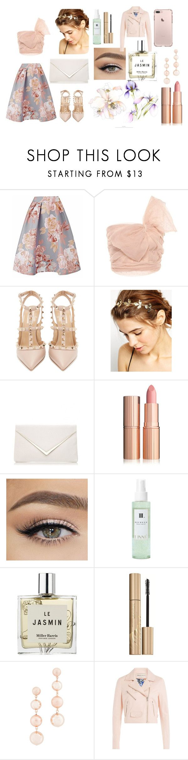 """""""Untitled #70"""" by clarza ❤ liked on Polyvore featuring RED Valentino, Valentino, WithChic, Linne, Miller Harris, Stila, Rebecca Minkoff and Emilio Pucci"""