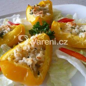 Fotografie receptu: Zapečené plněné papriky
