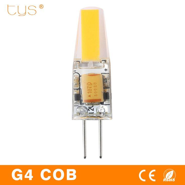 $0.76 (Buy here: https://alitems.com/g/1e8d114494ebda23ff8b16525dc3e8/?i=5&ulp=https%3A%2F%2Fwww.aliexpress.com%2Fitem%2FLED-Lamp-G4-3W-6W-bombillas-Led-12V-Light-Bulbs-COB-Chip-DC12V-AC220V-lampada-Ampoule%2F32790686986.html ) COB G4 LED AC DC 12V 220V 3W 6W Bulb SMD Dimmable Energy Saving Lighting Replace 20W 40W Halogen For Chandelier Lamps for just $0.76