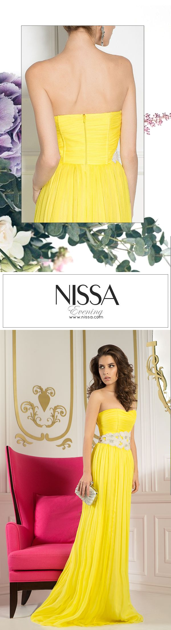 NISSA Evening Collection 2015  #nissa #dress #maxi # #evening #ss2015 #fashion #style #look #gorgeous #long #yellow