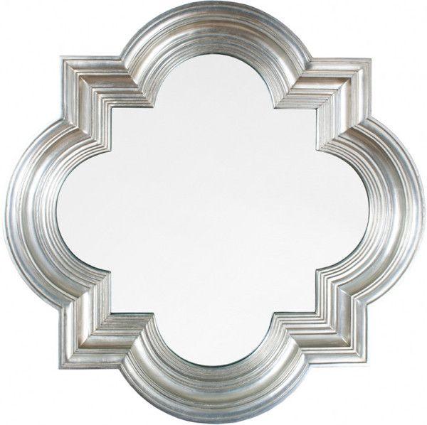 Silver Quatrefoil Mirror