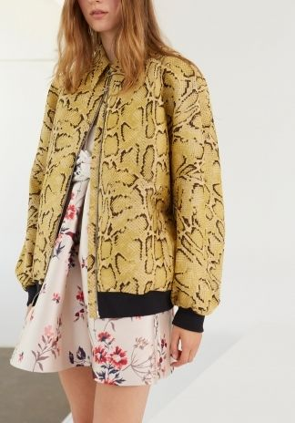 Camomile Snake Angelique Jacket, Wild Flower Mariette Dress.