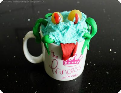 Courtesy of the The Princess and The Pickle blog: Monster in a mug - Mapletastic apple cake for a Halloween treat!