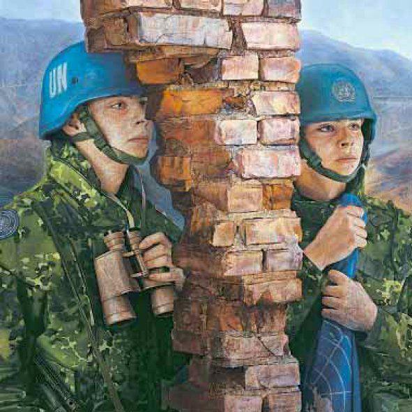Thomas Kluge - Et Kort Ophold. Danske FN soldater i Bosnien (detalje).