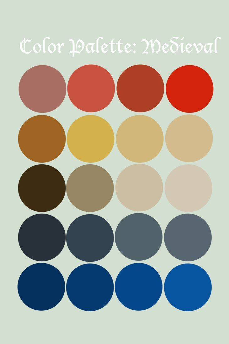 Medieval Color Palette Google Search Art In 2019