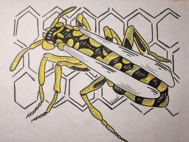 Nido di vespe. Disegno ripreso dal murales del Quadraro (RM). Omaggio alle Vespe del Quadraro (RM)