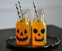 halloween gruselparty getränke flasche dekorieren