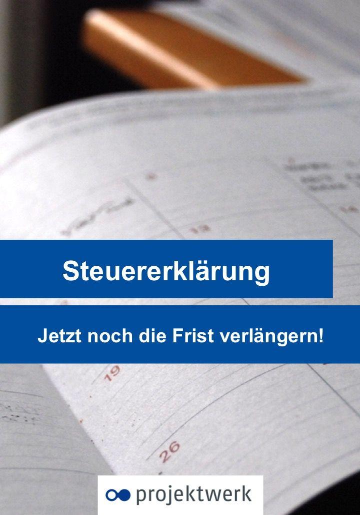 Am 31. Mai endet die Frist zur Abgabe der Steuererklärung. Wie Ihr sie jetzt noch verlängern könnt, lest Ihr im neusten Blogeintrag auf projektwerk.de
