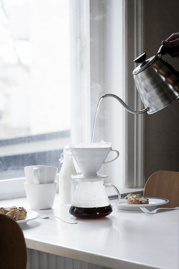 Slow living coffee in the morning - via