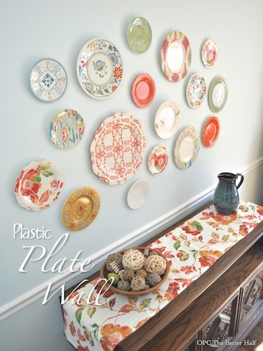 plastic plate wall hack - Decorative Wall Plates