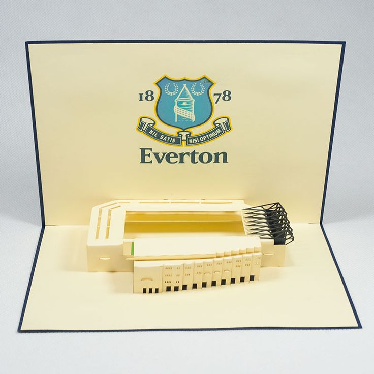 Pop up station card/ST005-Everton Stadium/Popup handmade station card for FC/Kirigami pop card/ Paper cutting Sport pop up card/Wholesales pop card Vietnam