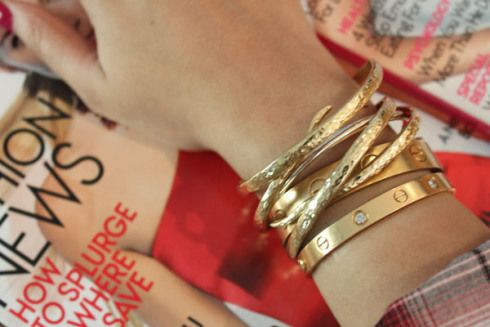 Trend Stacked Gold Bracelets Bracelets Bald Hairstyles
