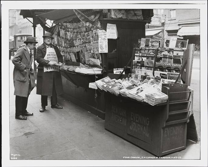 Doyoulikevintage Blind Newspaper Stand Man John Comuni At His On The Corner Of Street And Third Avenue Photo By Arthur Vitols Wurts Bros