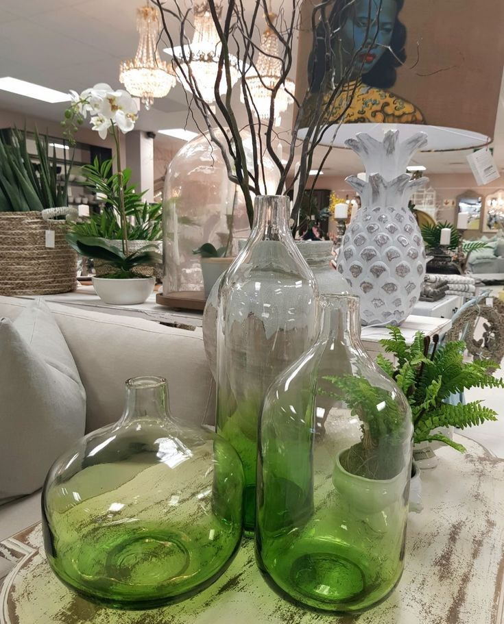 Colour glassware lifts any space!  #glassware #vases