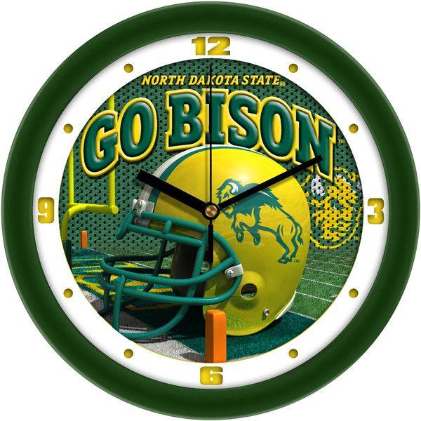 Mens North Dakota State Bison - Football Helmet Wall Clock