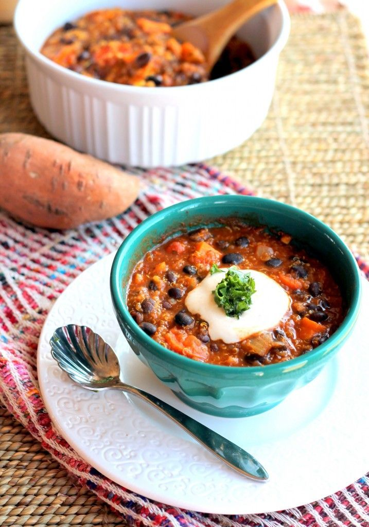 Black Bean, Sweet Potato, and Quinoa Chili with Smoked Chipotle ...