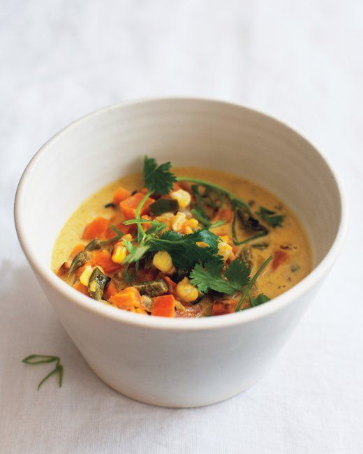 Dr. Weil's Sweet Potato-Poblano Soup Recipe