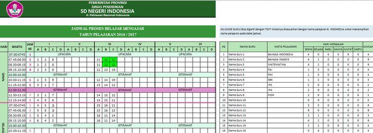 Aplikasi Jadwal Pelajaran SD, SMP, SMA 2016 anti Bentrok menggunakan Excel memang bisa menjadi jawaban tepat untuk mengatasi pembuatan jadwal pelajaran di kelas tanpa adanya bentrok jam mengajar Guru.