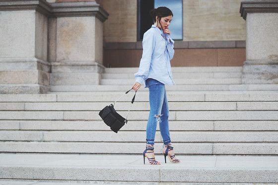 Ilirida Krasniqi - Aldo Heels, Justfab Bag - Jeans & heels